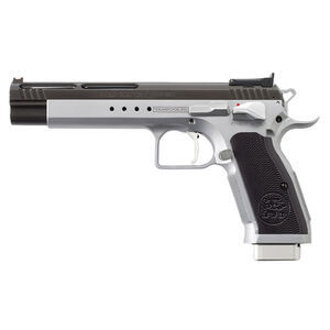 "EAA Tanfoglio Witness Match Xtreme .45 ACP Semi Auto Pistol 6"" Barrel 10 Rounds Duo-Tone Silver/Black Ceramic Coating"