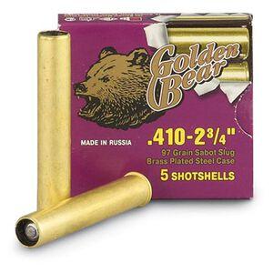 "Golden Bear .410 Bore 3"" 97 Gn Lead Slug Brass Case 5 Rnd"