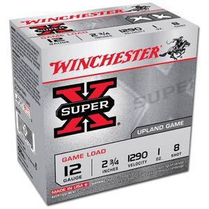 "Winchester Super X 12 Gauge 2.75"" #8 Lead 1 oz 25 Round Box"