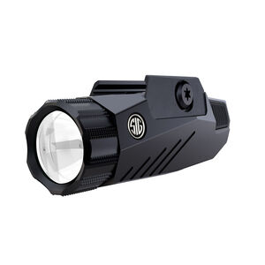 SIG Sauer FOXTROT1 Rail Mounted Flashlight 100/200/300 Lumen LED White Light M1913 Rail Compatible CR123 Battery Matte Black