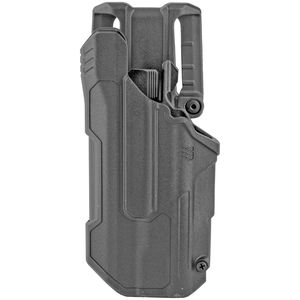 BLACKHAWK! T-Series LVL 2 Duty Belt Holster for Glock 17/19/22 With TLR 1 And 2 Left Hand Polymer Black