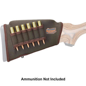 """Beartooth Products Comb Raising Kit 2.0 with Rifle Ammo Loops 7"""" Long Fits Most Rifle Stocks Neoprene Brown"""