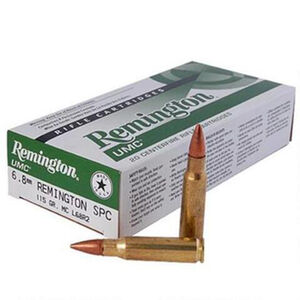 Remington 6.8 Remington SPC UMC Ammunition 20 Rounds, MC, 115 Grains