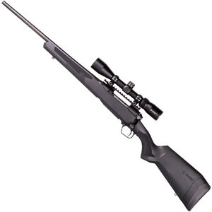 """Savage 110 Apex Hunter XP Left Hand Bolt Action Rifle 7mm Rem Mag 24"""" Barrel 4 Rounds DBM Vortex Crossfire II 3-9x40 Riflescope AccuTrigger Synthetic Stock Matte Black Finish"""