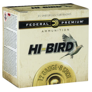 "Federal 12 Gauge Ammunition 250 Rounds 2.75"" Hi-Bird #4 Lead Shot 1.25 oz."