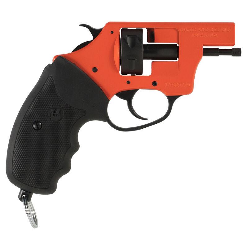 Charter Arms Starter Pistol Pro  22 Blank Ignition System 6 Round Cylinder  Exposed Hammer Black Rubber Grips Orange Frame