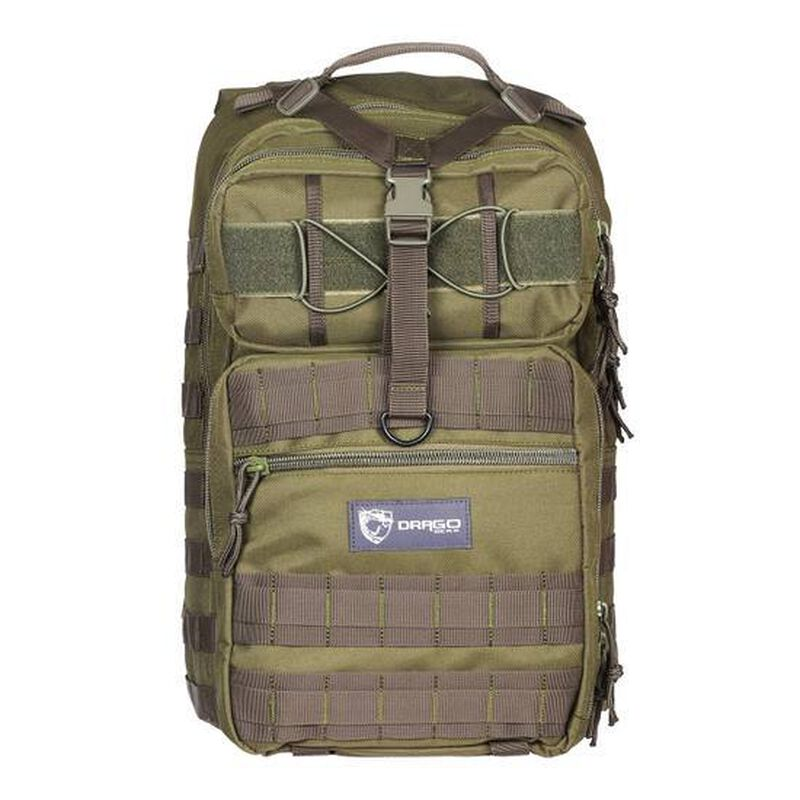 """Drago Gear Atlus Sling Backpack 600D Polyester 19"""" x 11"""" x 10"""" Green 14308GR"""