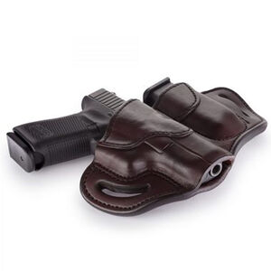 1791 Gunleather Open Top BH2.1M1.2 Multi-Fit OWB Holster With Built in Magazine Pouch for Full Size/Compact Semi Auto Models Right Hand Draw Leather Signature Brown