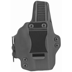 """BlackPoint Tactical DualPoint AIWB Holster fits GLOCK 43X Right Hand Draw 1.75"""" Strut Loop Kydex Matte Black"""
