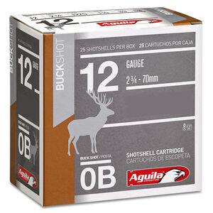 "Aguila High Velocity Buckshot 12 Gauge #0 Buck Lead Shot, 2-3/4"", 1-3/8 Ounce, 1275 fps, 25 Round Box, 1C1200BA"