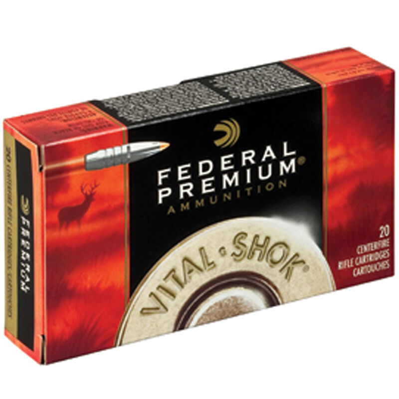 Federal Vital-Shok .223 Rem Ammunition 20 Rounds 62 Grain TBT Bullet 3050 fps