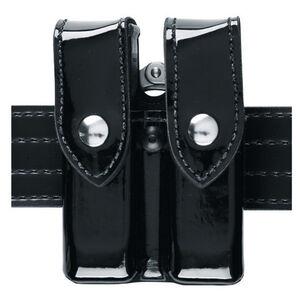 Safariland Model 72 Magazine and Cuff Pouch Fits Beretta 92FS/M9 Brass Snaps SafariLaminate Hi-Gloss Black