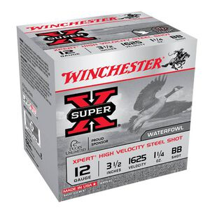 "Winchester Super-X 12 Ga 3.5"" BB Steel 1.25oz 25 Rounds"