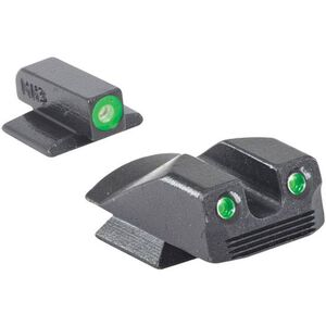 Meprolight Hyper-Bright Tritium Day and Night Sight Front Green Ring/Rear Green for Kimber Micro/Micro9