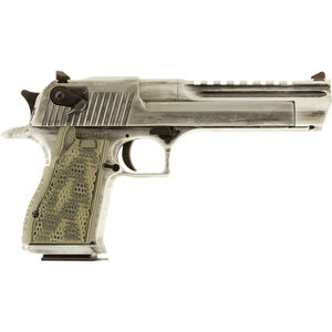 "Magnum Research Apocalyptic Desert Eagle Mark XIX Semi Auto Pistol .44 Remington Magnum 6"" Barrel 8 Rounds G10 Synthetic Grips Cerakote White Matte Distressed Finish"