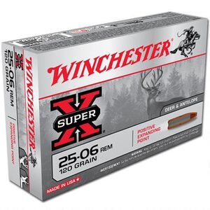 Winchester Super X .25-06 Rem Ammunition 20 Rounds, PEP, 120 Grains