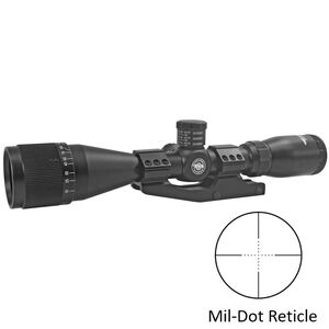 "BSA Optics Tactical Weapon 3-12X40mm Riflescope Mil-Dot Reticle 1"" Tube .25 MOA Adjustments Adjustable Parallax Second Focal Plane Matte Black"