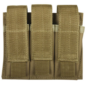Fox Outdoor Triple Pistol Mag Pouch Coyote 57-5538