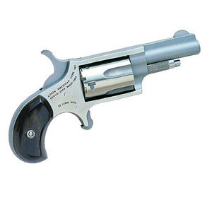 """NAA Mini Single Action Revolver .22 LR 1.6"""" Barrel 5 Rounds Wood Grips Stainless Steel Frame and Finish NAA-22LLR"""