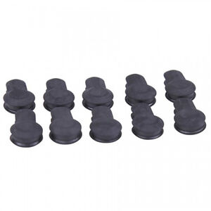Guntec AR-15 Gen 2 KeyMod Rubber Neoprene Insert Covers with Protruding Grooves Neoprene Black 10 Pack