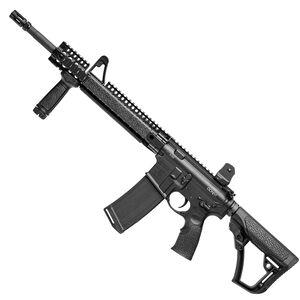 "Daniel Defense M4 Carbine V1 AR-15 Semi Auto Rifle .223 Rem/5.56mm NATO 16"" M4 Profile Barrel Carbine Length Gas System DDM4 12"" FSP Quad Rail Collapsible Stock Black 02-050-15027"