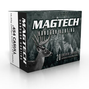 Magtech .454 Casull Ammunition 1000 Rounds SJSP 260 Grains 454A