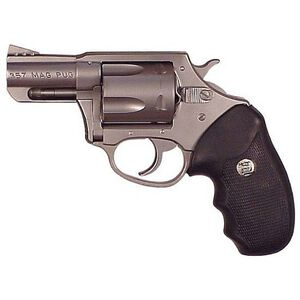 "Charter Arms Mag Pug Revolver .357 Magnum 2.2"" Barrel 5 Rounds Rubber Grips Stainless Steel Finish 73520"