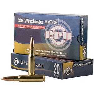 Prvi Partizan Match .308 Winchester Ammunition 20 Rounds HPBT 168 Grains PPM3082