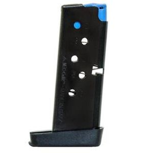 Mec-Gar Taurus PT738 Magazine .380 ACP 6 Rounds Steel Blued MGPT7386B