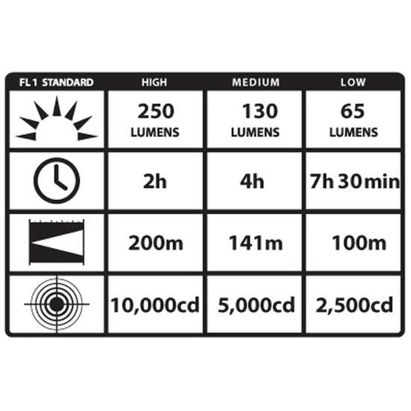 Streamlight Strion C4 LED Flashlight 250 Lumen 4 Function Rechargeable Battery AC Charger Aluminum Body Black 74303