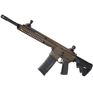 "LWRC Six8 SPR AR-15 Semi Auto Rifle 6.8mm SPC 16"" Barrel Gas Piston LWRC Flash Hider Modular Rail Compact Stock Skirmish Sights Patriot Brown SIX8A5RPBC16"