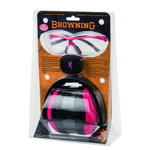 Browning Range Kit Eye and Hearing Protection for Her 19dB Pink/Black 126373