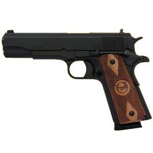 "Iver Johnson 1911A1 Semi Auto Handgun 9mm Luger 5"" Barrel 8 Shots Black Frame GIJ21"