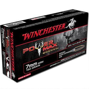 Ammo 7mm WSM Winchester Super-X 150 Grain Power Max Bonded Bullet 3200 fps 20 Rounds X7MMWSMBP