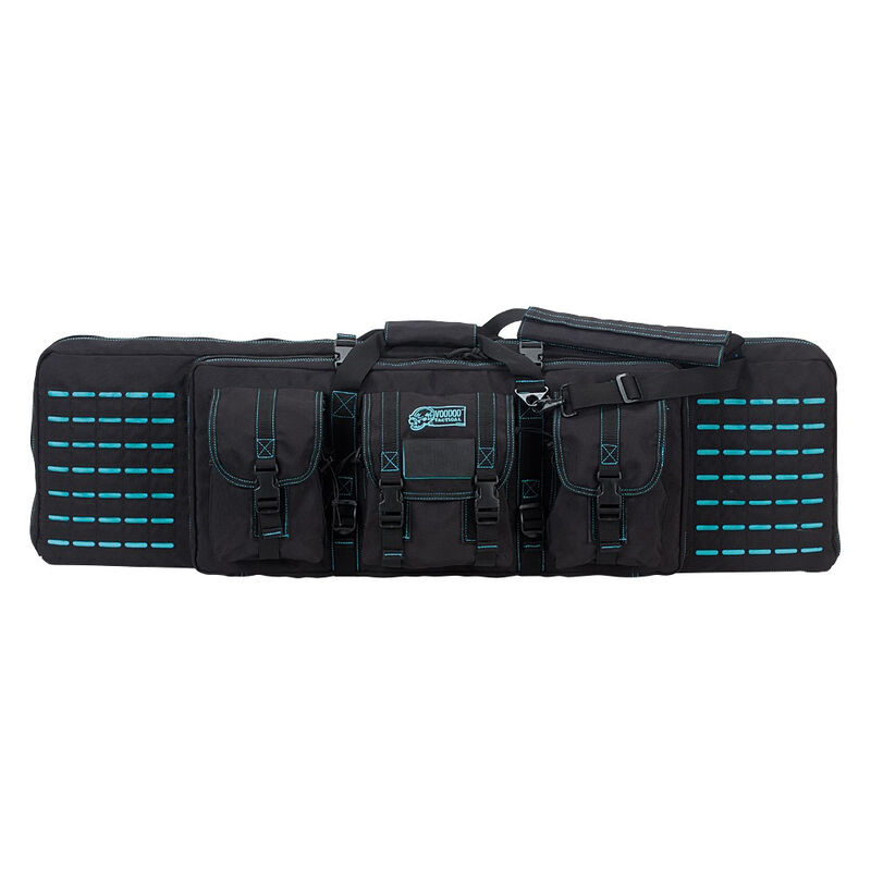 "Voodoo Tactical 36"" Padded Weapons Case Nylon Black/Teal"