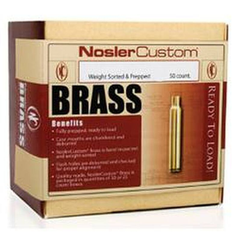 Nosler .260 Remington Unprimed Brass 50 Count 11354