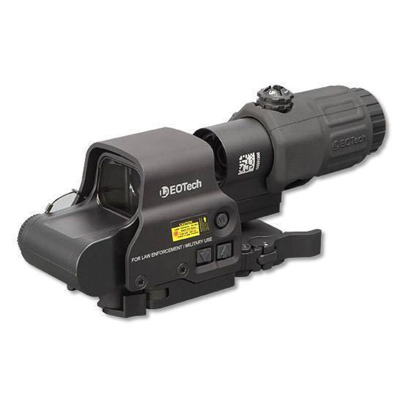 EOTech Holographic Hybrid Sight I (HHS-I): EXPS3-4 Holographic Weapon Sight and G33.STS Magnifier with Picatinny Quick Disconnect Mount NV Compatible Black HHS-I