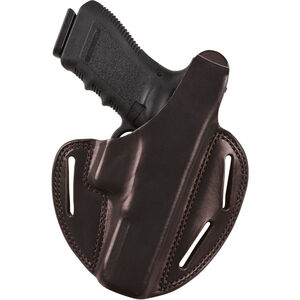 Bianchi #7 Shadow II Pancake-Style Holster SZ22A Ruger LCR .38 Special Right Hand Plain Black Leather 24940