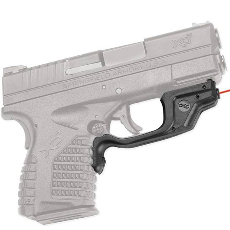 Crimson Trace Laserguard Springfield XDS Red Laser 1/3N Lithium Battery Polymer Body Black LG469