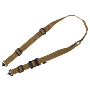 """Magpul MS1 QDM Two Point Sling MS1 Slider Proprietary Weave 1-1/4"""" Wide Nylon Webbing/Anti Chafing Comfort NIR Treatment Coyote Brown"""