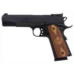 "Iver Johnson 1911A1 Eagle Semi Auto Pistol 9mm 5"" Barrel 8 Rounds Adjustable Sights Wood Grips Blue GIJ17"