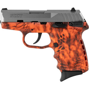 "SCCY CPX-1 9mm Luger Subcompact Semi Auto Pistol 3.1"" Barrel 10 Rounds Ambidextrous Safety Kryptek Inferno Polymer Frame with Stainless Slide Finish"