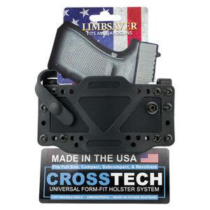 """LimbSaver CrossTech Gun Holster with 1.5"""" Web Belt Most Handguns IWB/OWB Up to 1.7"""" Belt Ambidextrous Polymer Black"""