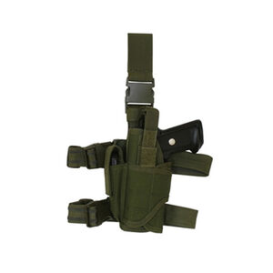 Fox Outdoor Commando Tactical Drop Leg Holster Large Autos Left Hand Olive Drab Green 58-6805