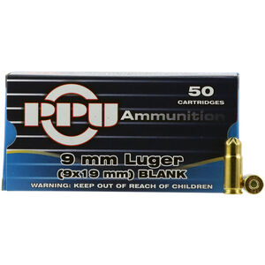 Prvi Partizan PPU 9mm Luger Blank Ammunition 50 Rounds
