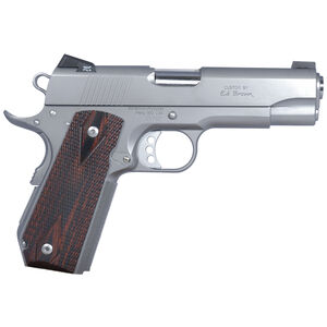 "Ed Brown Executive Carry 1911 Semi Auto Pistol 45 ACP 4.25"" Barrel 7 Rounds Laminate Grips Stainless Steel"