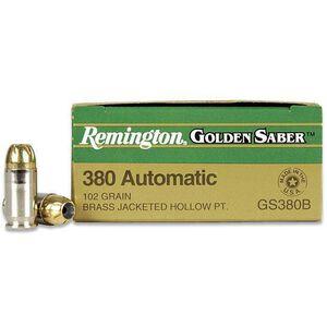 Remington Golden Saber .380 ACP 102gr JHP 25 Rounds