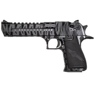 """Magnum Research Desert Eagle Semi Auto Pistol 50 AE 6"""" Barrel 7 Rounds Black Tiger Stripe"""
