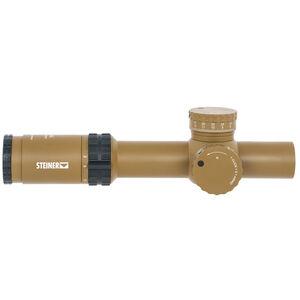 Steiner Optics M8Xi 1-8x24 Designated Marksman Riflescope DMR8i Reticle 34mm Tube Rear Focal Plane .1 MRAD Adjustments Coyote Brown