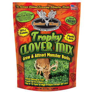 Antler King Trophy Clover Chicory Seed Food Plot Mix Deer Turkey 3.55 lbs 1/2 Acre